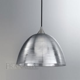 FL2290/1/928 Vetross 1 Light Ceiling Pendant Translucent Silver