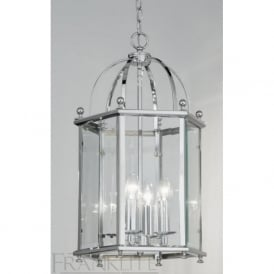LA7008/4 Madison 4 Light Ceiling Lantern Polished Chrome