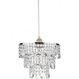 CYB6550 Cybil Crystal Non Electric Pendant Polished Chrome