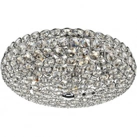 FRO5450 Frost 5 Light Crystal Ceiling Light Polished Chrome