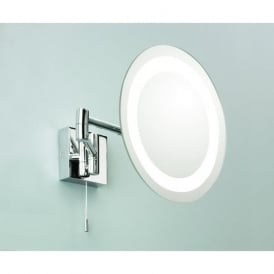 0356 Genova 1 Light Switched Mirror Light IP44 Polished Chrome