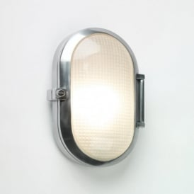 0326 Toronto Oval 1 Light Outdoor Wall Light IP65 Polished Aluminium