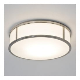 7077 Mashiko Round 300 1 Light Ceiling Light IP44 Polished Chrome