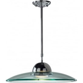 HEM8650 Hemisphere 1 Light Ceiling Pendant Polished Chrome
