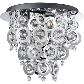 0573-3CC Nova 3 Light Ceiling Light Polished Chrome