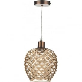 MOS6535 Mosaic Non Electric Pendant Champagne Gold Glass