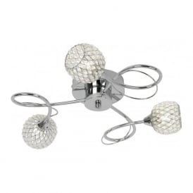 AHERNE-3CH Aherne 3 Light Ceiling Light Polished Chrome
