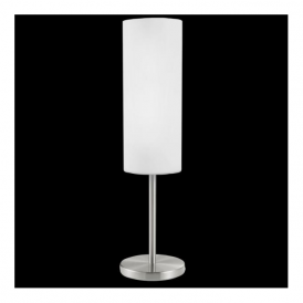 85981 Troy3 1 Light Table Lamp Satin Nickel