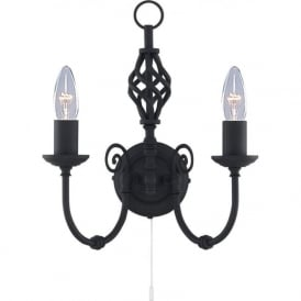 3380-2 Zanzibar 2 Light Wall Light Black