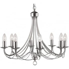 6348-8SS Maypole 8 Light Ceiling Light Satin Silver