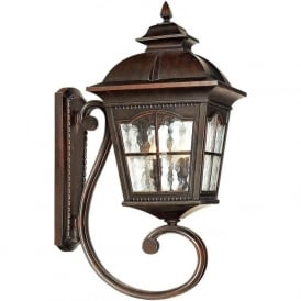 1571BR Pompeii 1 Light Outdoor Wall Light Brown Stone IP44