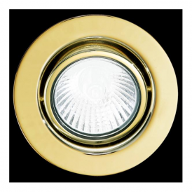 87373 Einbauspot GU10 Mains Voltage Recessed Downlight Brass Finish (adjustable)