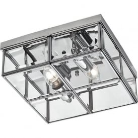 6769-26CC 2 Light Flush Ceiling Light Polished Chrome