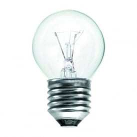 ES/E27 45 mm Round Ball Clear Tough Lamp