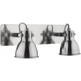 IDA7746 Idaho 2 Light Switched Wall Spotlight Natural Chrome