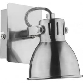 IDA0746 Idaho 1 Light Switched Wall Spotlight Natural Chrome
