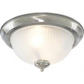 4042 American Diner 2 Light Flush Ceiling Light Polished Chrome