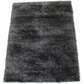 Milan MILBLK120 120 x 160 Luxury Shaggy Rug by Thomas Wilton in Black