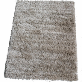 Milan MILCR120 120 x 160 Luxury Shaggy Rug by Thomas Wilton in Cream