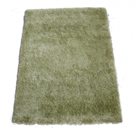 Milan MILLTGRN120 120 x 160 Luxury Shaggy Rug by Thomas Wilton in Light Green