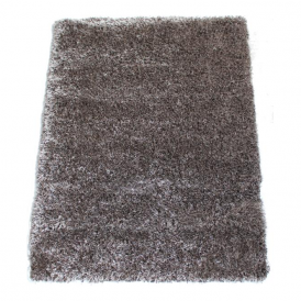 Milan MILBR120 120 x 160 Luxury Shaggy Rug by Thomas Wilton in Brown