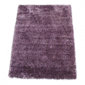 Milan MILVIO120 120 x 160 Luxury Shaggy Rug by Thomas Wilton in Violet