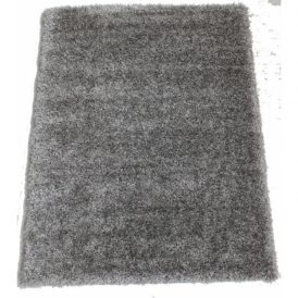 Milan MILGRY120 120 x 160 Luxury Shaggy Rug by Thomas Wilton in Silver Grey