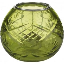003S04004 Cuba Crystal Candle Holder Green Pack 4