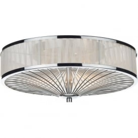 OSL5050 Oslo 3 Light Flush Ceiling Light Polished Chrome