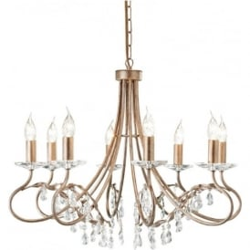 CRT8 Christina 8 Light Chandelier Silver/Gold