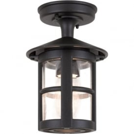 BL21A Hereford Ridge Tube Outdoor 1 Light Porch Lantern Black IP43