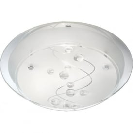3020-25CC 1 Light Flush Ceiling Light Glass
