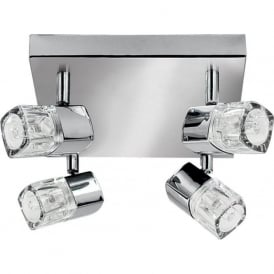 7884CC Blocs 4 Light Ceiling Spotlight Polished Chrome