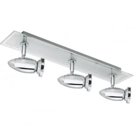 8763CC Saturn 3 Light Ceiling Spotlight Polished Chrome