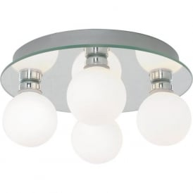 4337-4 4 Light Semi Flush Ceiling Light Polished Chrome IP44