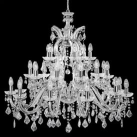 3314-30 Marie Therese 30 Light Chandelier Polished Chrome