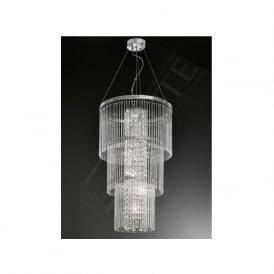 FL2310/6 Charisma 6 Light Crystal Ceiling Pendant Polished Chrome