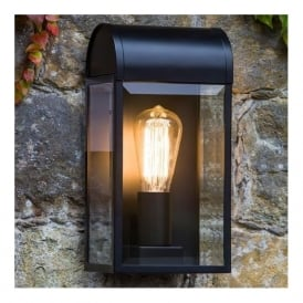 7267 Newbury 1 Light Outdoor Wall Light Black IP44