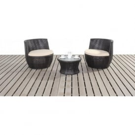 WGF-121 Port Royal Luxe Rattan Stacking Set Brown