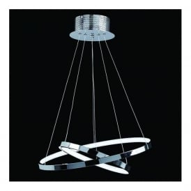 KLINE-2CH Kline LED Ceiling Pendant Polished Chrome