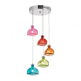 SARANDON-5MULTI Sarandon 5 Light Pendant Multicoloured