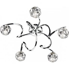 BAB5450 Babylon 5 Light Semi Flush Ceiling Light Polished Chrome