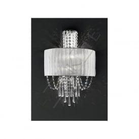 FL2303/2 Empress 2 Light Crystal Wall Light Polished Chrome