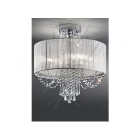 FL2303/6 Empress 6 Light Crystal Ceiling Light Polished Chrome