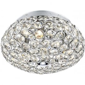 FRO5350 Frost 3 Light Crystal Ceiling Light Polished Chrome