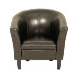 09348 Colby Tub Chair in Brown