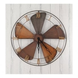 71-207 Fan Design Metal Wall Clock