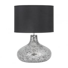 Evie Mosaic Table Lamp Silver