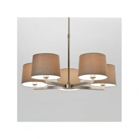 7087 Martina 5 Ceiling Light Matt Nickel
