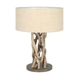 Pacific Lifestyle 30-075-C Derna Driftwood And Natural Jute Table Lamp